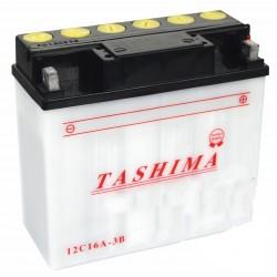 Batterie 12V, 19A. L: 180, L: 78, H:170mm, + à droite.