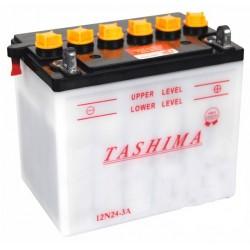 Batterie 12V, 24A . L: 184, l: 124, H:175mm, + à droite.
