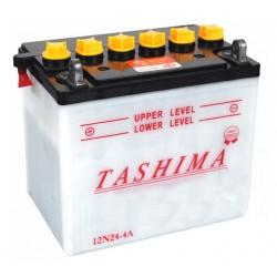 Batterie 12V, 24A L: 184, l: 124, H:175mm, + à gauche.