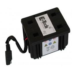 Batterie motoculture 12V, 2,5A, L: 112, l: 86, H:70mm, avec connexion spéciale.