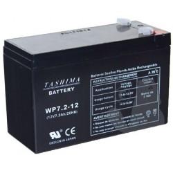 Batterie 12V, 7,2A.pour Lampe torche rechargeables, alarmes. L: 152, l: 65, H:95mm, CT250X nouveau modèle 100% étanche.