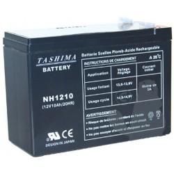 Batterie motoculture 12V, 10A. L: 151, l: 63, H:110mm, + à gauche 100% étanche.
