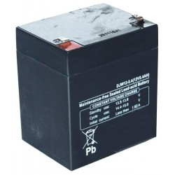 Batterie motoculture 12V, 5,4A. L: 89, l: 69, H:104mm, + à gauche 100% étanche.