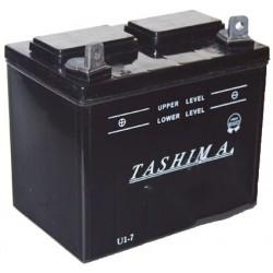 Batterie pour tondeuse autoportée 12V, 18A, + à gauche. (livrée sans acide).