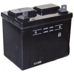 Batterie pour tondeuse autoportée 12V, 32A. L: 196, l: 131, H:184mm, + à droite. (livrée sans acide).