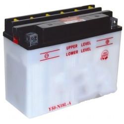 Batterie renforcée pour autoportée et utilitaire 12V, 20A. L: 205, l: 90, H:162mm, + à droite. (livrée sans acide).