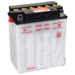 Batterie renforcée 12V, 12A. L: 134, l: 80, H: 160mm, + à droite pour autoportée, scooter, motos. (livrée sans acide).