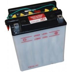 Batterie renforcée 12V, 14A. L: 134, l: 89, H:166mm, + à droite pour scooter, motos ... (livrée sans acide)