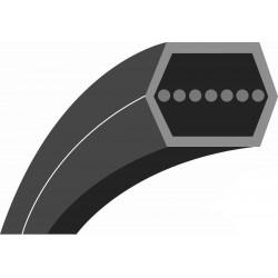 """Courroie hexagonale qualité d'origine TORO - WHEEL HORSE pour tondeuses 44"""" & 52"""" (section: AA 1/2"""", L: 105- 1/2"""")."""