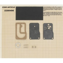 Kit membranes + Joints pour pompe à essence BRIGGS & STRATTON modèles 253700 à 255400 & 400400 à 422700. 16 & 18 ch. TWIN.