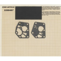 Kit membrane + Joint pour BRIGGS & STRATTON modèles 3,75 ch. Sprint + Classic.