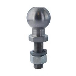 Boule d'accouplement pour remorque et accessoires autoportées, spécifique pour système de fixation rapide KWIKHITCH.