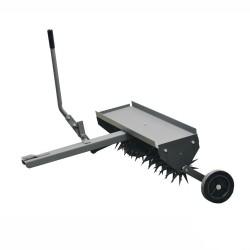 Aérateur 11 Lames à 12 dents pour une largeur de travail de 100cm, réglable à partir de l'autoportée avec roues de soutien.