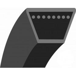 """Courroie lisse trapézoïdale qualité d'origine AYP, pour 77cm éjection arrière (section: 1/2"""") et BERNARD LOISIRS."""