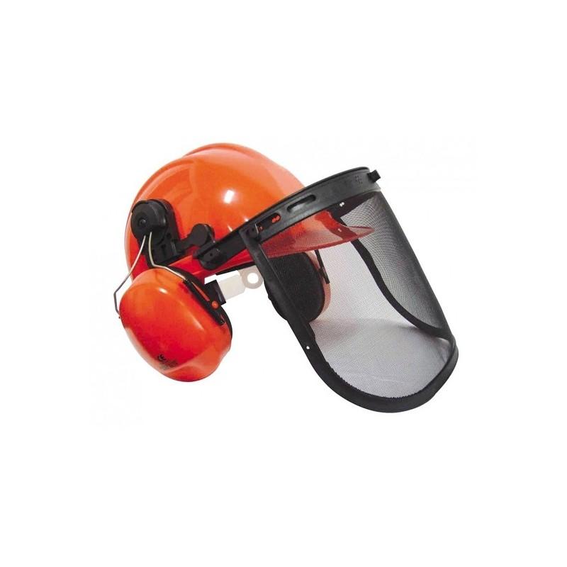 casque de chantier avec visiere grillag et anti bruit travaux forestier lg motoculture. Black Bedroom Furniture Sets. Home Design Ideas