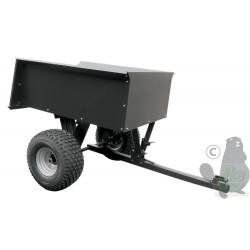Remorque avec benne basculante en acier pour quads, 106x76x40cm, 680kg.