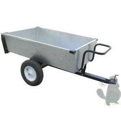 Remorque avec benne basculante en acier galvanisé 106x84x30cm, 320kg.