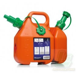 Bidon double HUSQVARNA essence  huile de chaîne