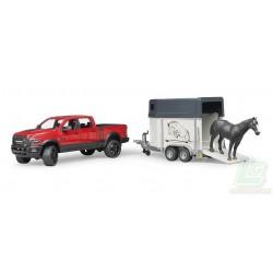 Power Wagon avec van pour chevaux RAM 2500 Bruder