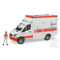 Ambulance MB Sprinter avec conducteur BRUDER