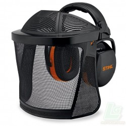 Visière intégrale courte avec grille en nylon Avec coquilles anti-bruit et protection du front