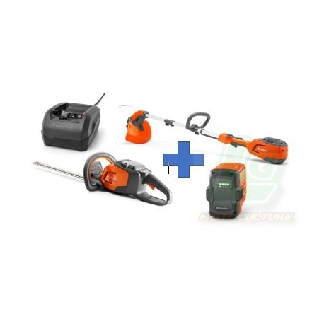 PACK TAILLE-HAIES BATTERIE 215IHD45 + COUPE BORDURE 215IL+BATTERIE 40-B70+CHARGEUR 40-C80
